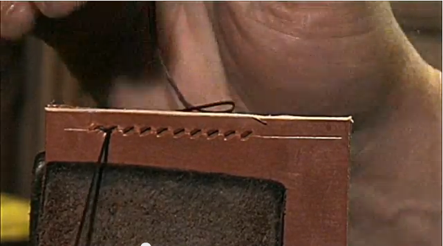 Detailed Saddle Stitch For Hand Sewing Leather Video