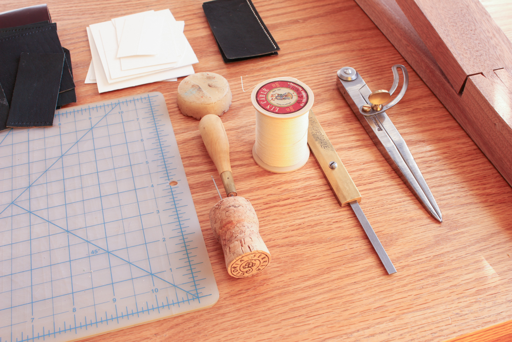 Fine Leatherworking Sewing Setup Main Section