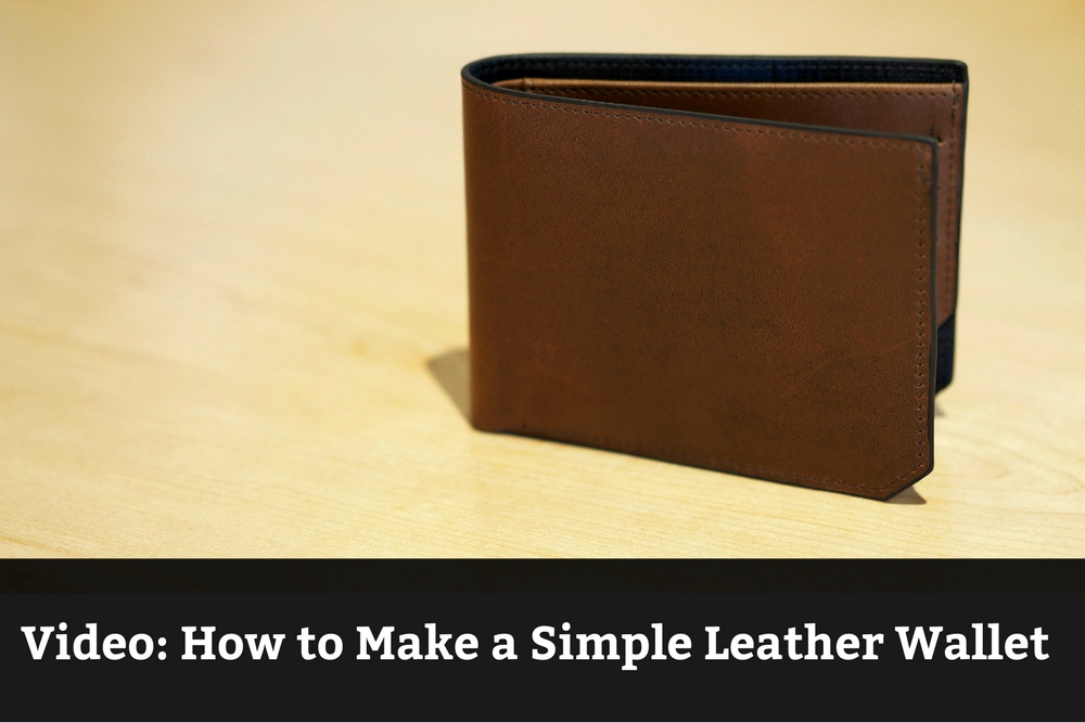 Video: How to Make a Simple Leather Wallet