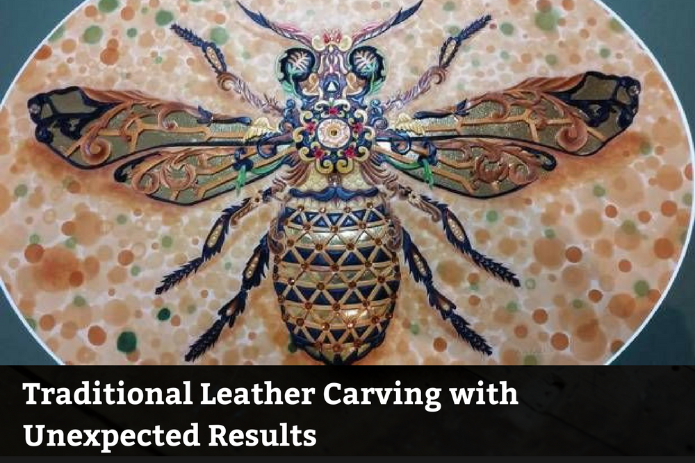 Traditional Leather Carving With Unexpected Results